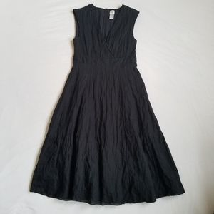 Garnet Hill dress LBD surplice fit and flare 6P